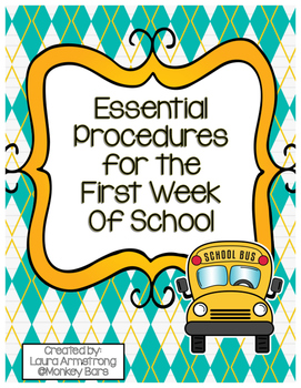 First Week of School Procedure Checklist
