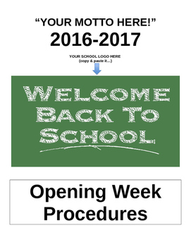 First Week of School (Procedures)