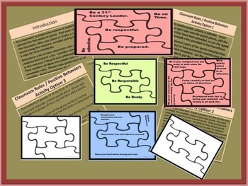 Back to School:  Puzzle Activity to Teach Classroom Rules and Positive Behaviors
