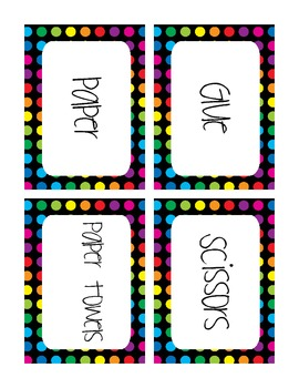 First Week of School Quick Survival Kit Polka Dot Pattern Freebie