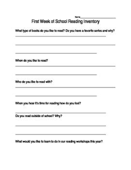First Week of School Reader Interview
