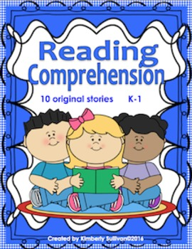 Reading Comprehension passages and questions K - 1