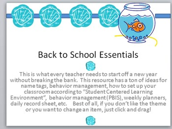 First Week of School Resource-Labels, name tags, planners, activities,and more!