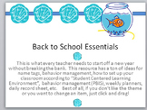 First Week of School Resource-Labels, name tags, planners,
