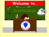 First Week of School Rules and Procedures Smartboard Activities