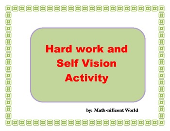 First Week of School - Self Vision Activity