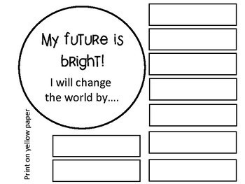 "First Week of School - Sun Craftivity - ""My Future Is Bright!"""