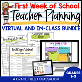 First Week of School Teacher Plans Virtual and In-Class Bundle