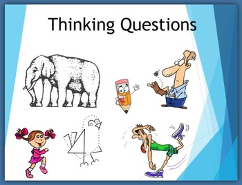 First Week of School - Thinking Questions