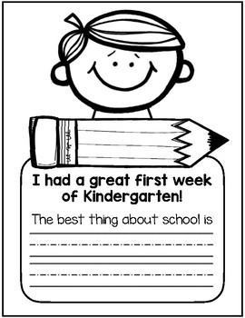 First Week of School Writing