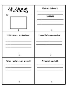 Back to School- All About Me Writing Mini-books