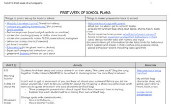 Back to School: First Week Plans (div1)