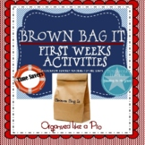 First Weeks: Brown Bag It Activity