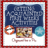 First Weeks: Getting Acquainted Activities