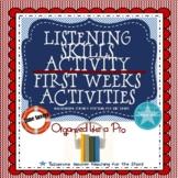First Weeks: Listening Skills Activity
