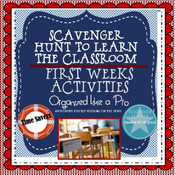 First Weeks: Scavenger Hunt to Learn the Classroom