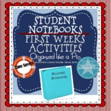 First Weeks: Student Notebooks