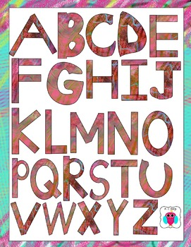 First Whimsy Letter Clip Art Set