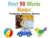 First Words Binder-Speech Development