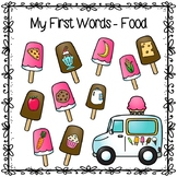 First Words- Early Food Vocabulary- Ice Cream Theme- No Prep