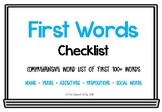 First Words List (with and without Colorful Semantics)