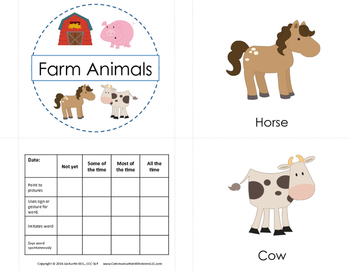 First Words Mini Books - Farm Animals