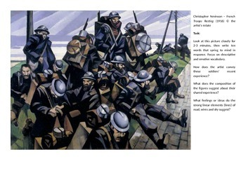 First World War (WW1) - Art Interpretation task