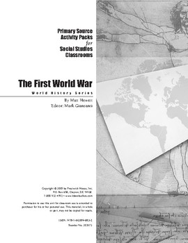 First World War activity Pack for Social Studies