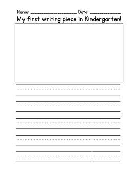 First Writing Piece in Kindergarten