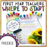 New Teacher Help | First Year Teacher Start Guide