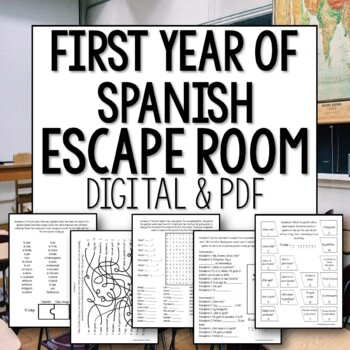 First Year Spanish Beginner Break Out Room Escape Activity