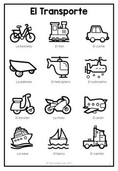 Spanish Vocabualry Packet - NO PREP
