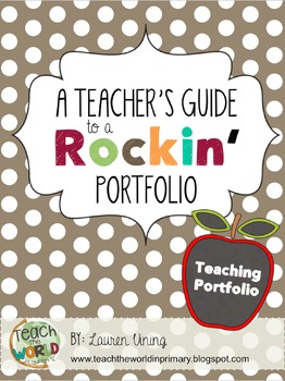 Teacher portfolio by teach the world teachers pay teachers for Teaching portfolio template free