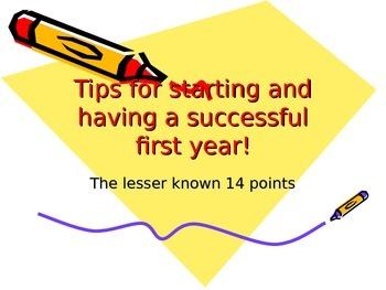 First Year Tips for Beginning Teachers