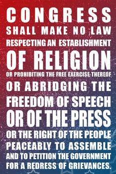 First amendment printable poster - 20'X30'