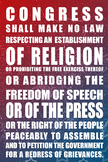 First amendment printable poster - 20'X30'