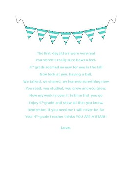 First and Last Day Of School Editable Poems
