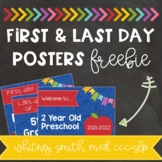 First and Last Day Posters