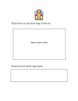 First and Last Day Worksheet