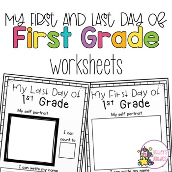 graphic about First Day of 1st Grade Printable identify Initially and Very last Working day of 1st Quality Worksheets