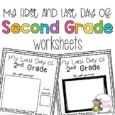 First and Last Day of 2nd Grade Worksheets