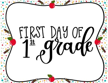 First and Last Day of First Grade Printable