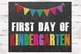 First and Last Day of Kindergarten Chalkboard sign, 8x10 j