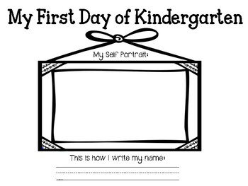 First and Last Day of Kindergarten Portrait and Name Activity