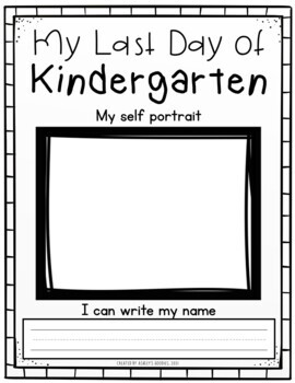 First and Last Day of Kindergarten Worksheets