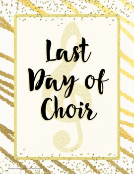 First and Last Day of Music Photo Posters {Chic & Glam}