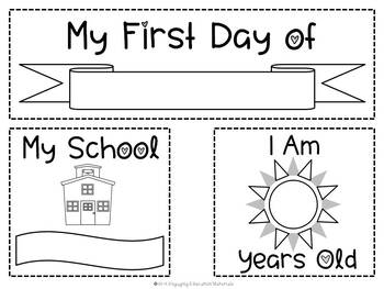 First and Last Day of School Faux Chalkboard Sign