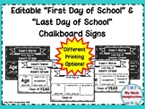 First and Last Day of School Chalkboard Signs