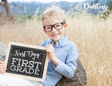 First and Last Day of School Chalkboard Signs - Set of 52!