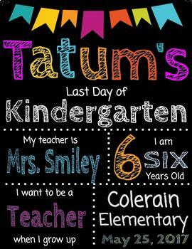 First and Last Day of School Editable Signs